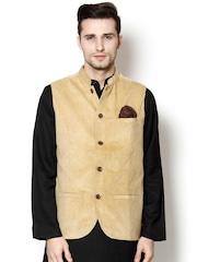 even Beige Slim Fit Nehru Jacket