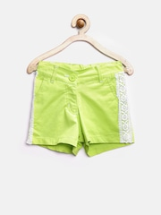612 League Girls Lime Green Shorts with Lace