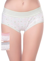 Lady Lyka Pack of 3 Printed Hipster Briefs