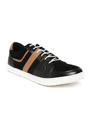 Provogue Men Black Leather Casual Shoes