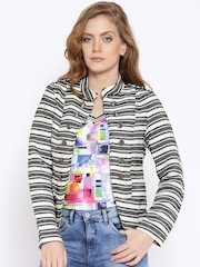 ONLY Black & White Striped Jacket