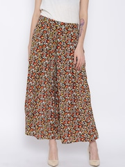 Sera Multicoloured Floral Print Palazzo Trousers