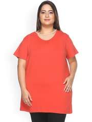 plusS Orange Smart Fit T-shirt