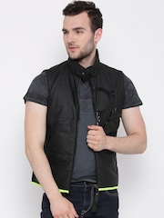 United Colors of Benetton Black Sleeveless Jacket
