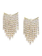 Ayesha Gold-Toned Stone-Studded Drop Earrings