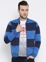 United Colors of Benetton Blue Striped Jacket