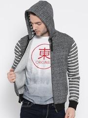 United Colors of Benetton Grey Hooded Sweatshirt