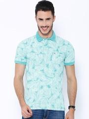 Tommy Hilfiger Blue Printed Polo T-shirt