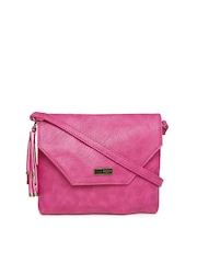 Roxy Pink Textured Sling Bag