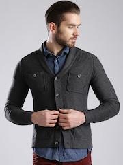 GAS Charcoal Grey Cardigan