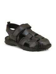 Ventoland Men Black Genuine Leather Casual Shoes