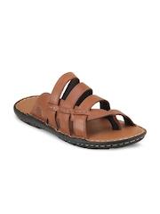 Ventoland Men Brown Genuine Leather Sandals