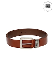 Tommy Hilfiger Men Tan Brown Genuine Leather Belt