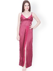 Secret Wish Maroon Maxi Nightdress NT-194