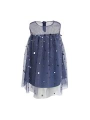 A Little Fable Girls Blue A-Line Dress