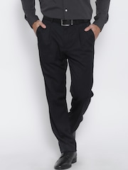 Blackberrys Navy Sharp Fit Formal Trousers