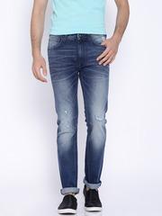 Pepe Jeans Blue Low-Rise Vapour Slim Fit Jeans
