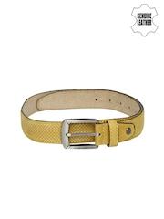 Harvard Men Mustard Yellow Genuine Leather Belt