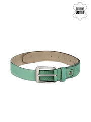Harvard Men Mint Green Genuine Leather Belt