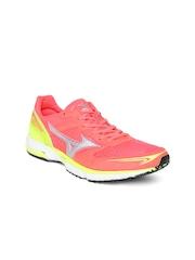 Mizuno Women Neon Pink Wave Emperor Running Shoes