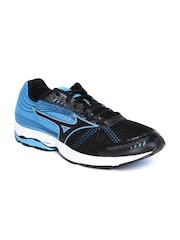Mizuno Men Black & Blue Wave Sayonara 3 Running Shoes