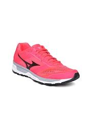 Mizuno Women Neon Pink Synchro MX Running Shoes