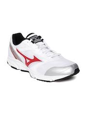 Mizuno Men White Maximizer 18 Running Shoes