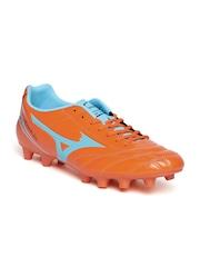 Mizuno Men Orange Monarcida MD Wide Leather Football Shoes