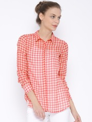 Fame Forever by Lifestyle Pink & Beige Checked Shirt