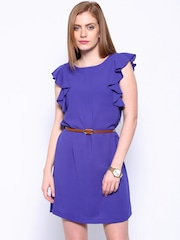Allen Solly Woman Blue Shift Dress