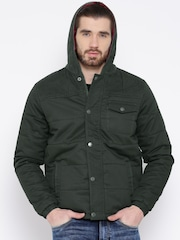 Pepe Jeans Olive Green Hooded Jacket