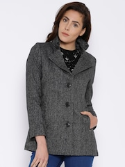 Pepe Jeans Charcoal Grey Woollen Jacket