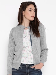 Pepe Jeans Grey Front Open Sweater
