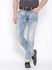 Jack & Jones Blue Washed Tim Slim Fit Jeans