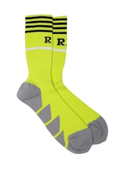 Real Madrid Men Green & Grey Padded Above Ankle-Length Sports Socks