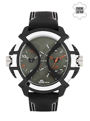 Fastrack Men Gunmetal-Toned Dual Dial Watch NF38016PL01J