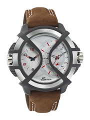 Fastrack Men Silver-Toned Dial Watch NF38016PL02J