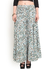 Trend Arrest Multicoloured Printed Palazzo Trousers