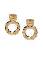 Anouk Gold-Toned Textured Drop earrings