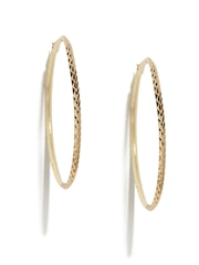 Anouk Gold-Toned Textured Hoop Earrings