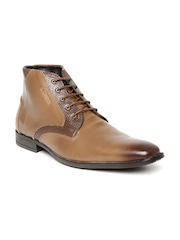 Style Centrum Men Brown Leather Semiformal Shoes