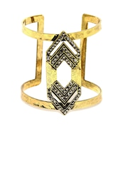 DressBerry Antique Gold-Toned Cuff Bracelet