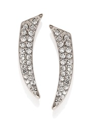 DressBerry Silver-Toned Embellished Drop Earrings