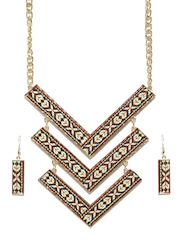 DressBerry Multicoloured Embroidered Jewellery Set