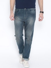 Flying Machine Blue Django Straight Fit Jeans
