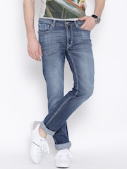Flying Machine Blue Low-Rise Jackson Skinny Fit Jeans