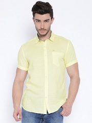 Flying Machine Yellow Casual Shirt