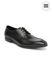 Ruosh Occasion Men Black Derby Semiformal Shoes