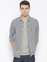 United Colors of Benetton Black Checked Casual Shirt