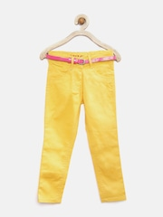 612 League Girls Yellow Jeans